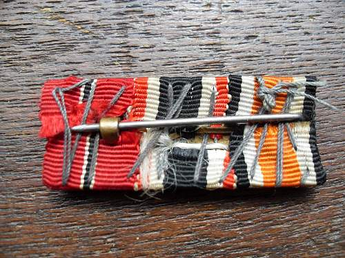 Orange iron cross ribbon