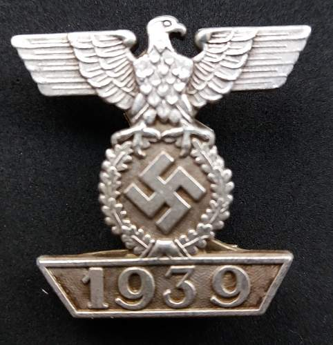 1939 Spange Zum 1914 Eisernes Kreus 2 klasse