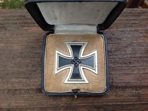 Eisernes Kreuz 1st Klasse cases Wachler & Lange