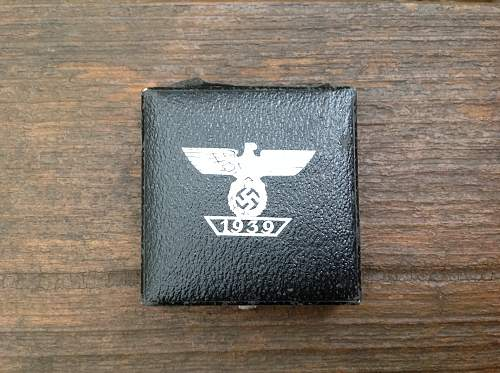 Cased 1939 Spange zum Eisernen Kreuzes 1er Klasse 1914