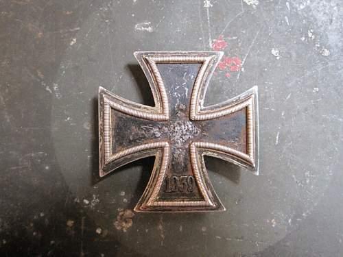 EK1 iron cross first class denazified who is the Maker