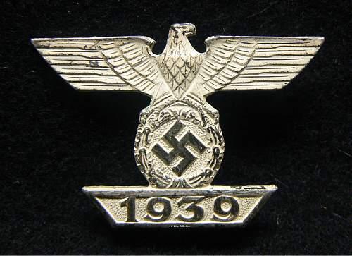 1939 Spange zum Eisernen Kreuzes 1er Klasse 1914, B.H. Mayer.
