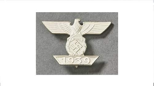 1939 Spange zum Eisernen Kreuzes 1er Klasse 1914 unissued in Mint condition Boxed
