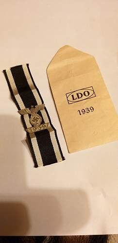 Spange 1939 zum EKII Klasse 1914