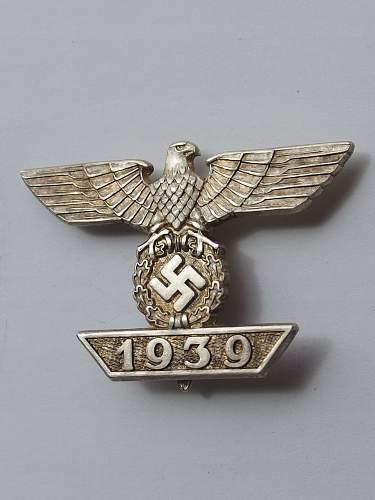 1939 Spange zum Eisernen Kreuzes 1er Klasse