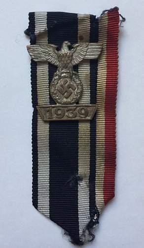 1939 Spange zum Eisernen Kreuzes 2er Klasse 1914 (Type II) by Juncker