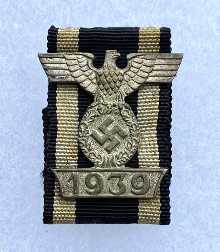 First Pattern 1939 Spange zum Eisernen Kreuzes 2er Klasse 1914 by Boerger