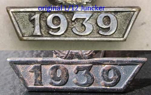 1939 Spange zum Eisernen Kreuzes 2er Klasse - pair of reproductions