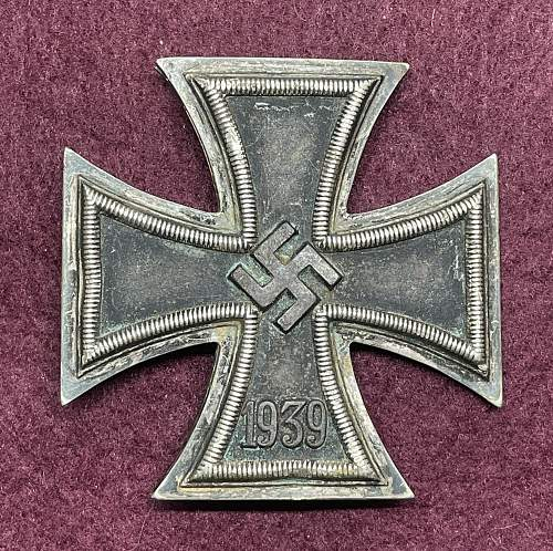 Eisernes Kreuz 1. Klasse, '65' Klein & Quenzer, Oberstein