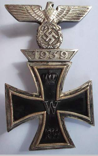Wiederholungsspange 1. Klasse + Eisernes Kreuz 1. Klasse - Original?