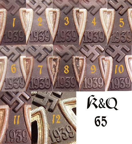 "Cased EK I 1939 ""65"" with paperbox"