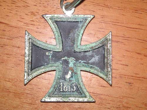 fake knight's cross - artificially aged.
