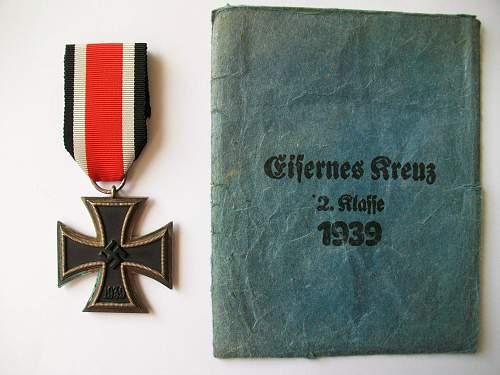 Eisernes Kreuz 2 klasse real or fake