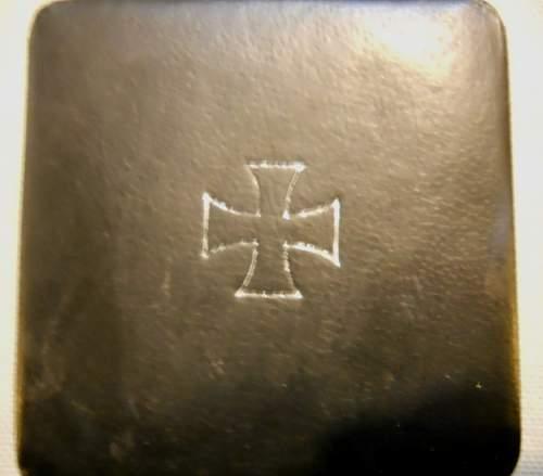 Cased Eisernes Kreuz 1st Klasse...Thoughts Please?  Original or Fake?