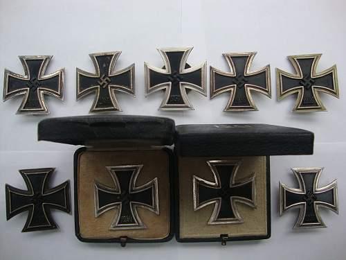 Eiserne Kreuze Erster Klasse.