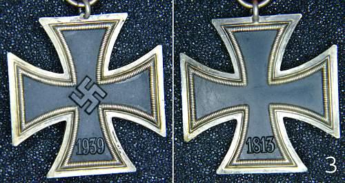 Three Eisernes Kreuz II Klasse