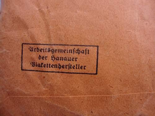 Double stamped EK2 '24' with orange packet