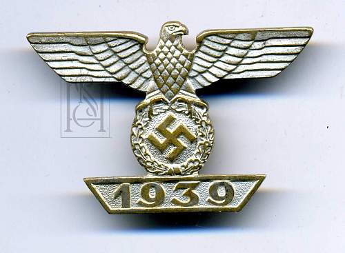 1939 Bar to the Eisernes Kreuz EKII