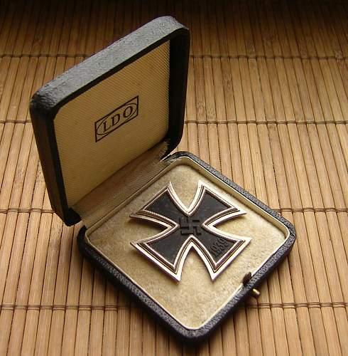 Iron Cross First Class Cased