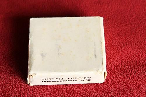 Eisernes Kreuz 1. Klasse 20 Zimmermann with box