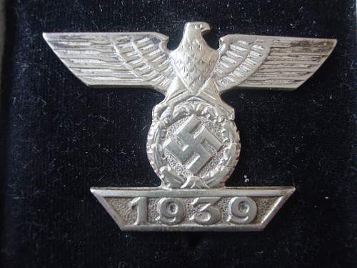 1939 Spange zum Eisernen Kreuzes 1er Klasse 1914.