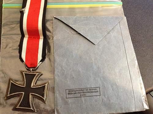 my three EK2's with issue Envelopes