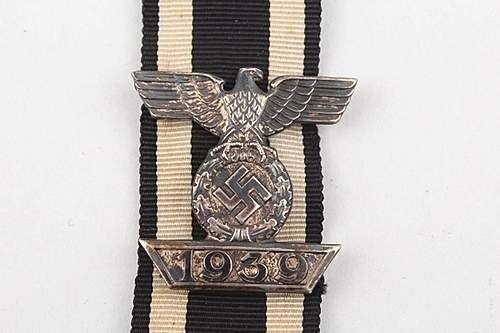 1939 Spange zum Eisernen Kreuzes 2er Klasse 1914.