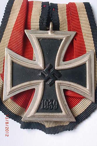 Eisernes Kreuz 2. klasse mm '93' parade mounted