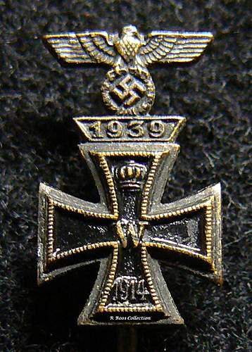 Eisernes Kreuz 1. Klasse & Spange combo Pin