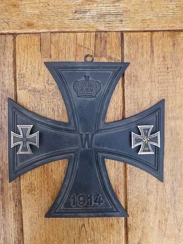 Eisernes Kreuz , the biggest one you'll ever seen....