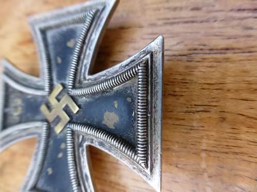 Eisernes Kreuz EK1 by Fr.Orth (15) brass core