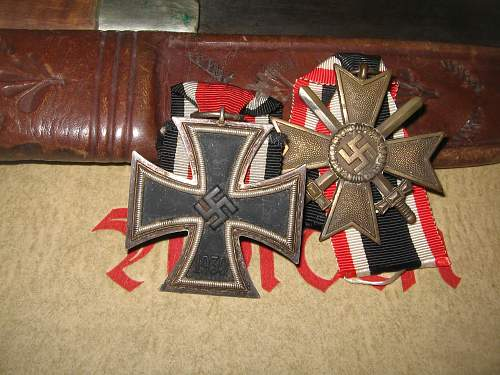 2 unmarked EKII-s from German WWII vets estate sales