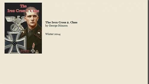 Book: The Iron Cross 2.Class - B&D Publishing