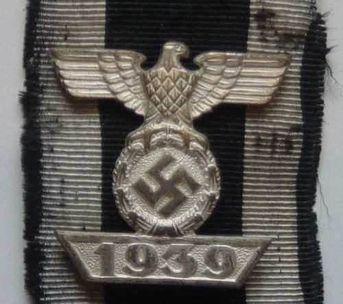 1939 Bar to the Eisernes Kreuz EKII