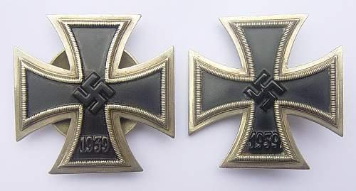 Eisernes Kreuz 1st Class 1939 by Paul Meybauer, Berlin.