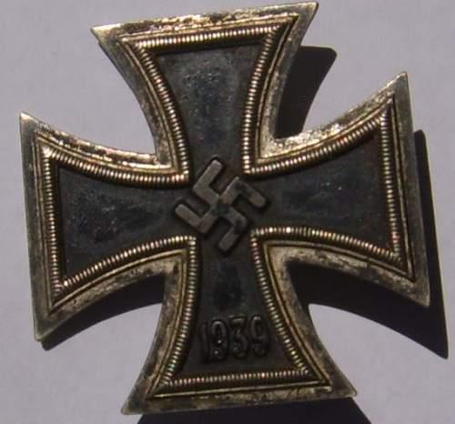 Eisernes Kreuz 1. Klasse marked 15