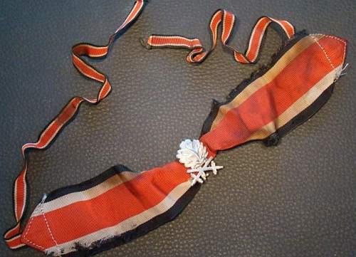 RK neckribbon + oak leaves