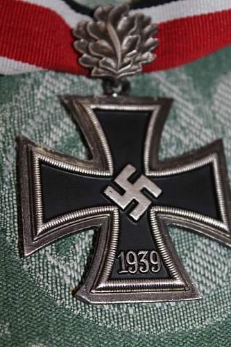 Ritterkreuz mit Eichenlaub.