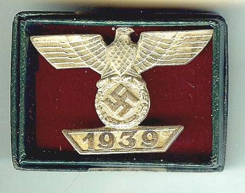 bar to the Iron cross 1 st class