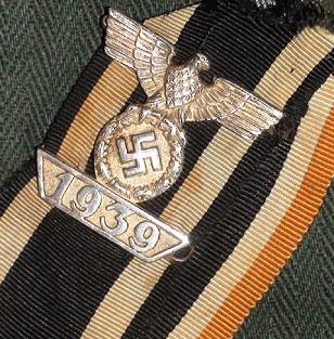 Spange zum Eisernen Kreuzes 1er Klasse,double ribbon+KVK2