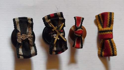 1939 Spange zum Eisernen Kreuzes 2er Klasse Knopfloch.