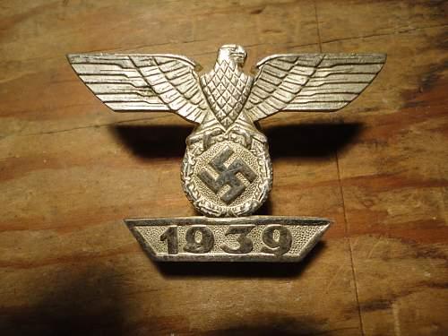 Eisernes Kreuz 1. Klasse and 1939 Spange zum Eisernen Kreuzes 1er Klasse 1914, Opinions Please