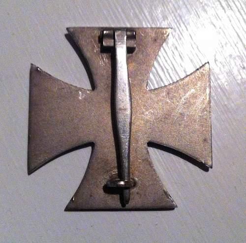 Eisernes Kreuz 1.Klasse question.