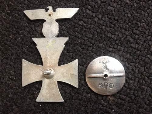 1914  EK1 with 1939 Spange FAKE