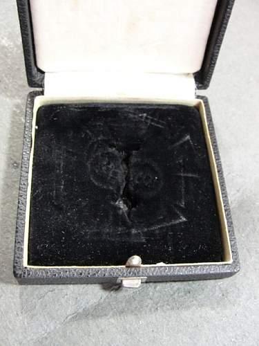 Case for 1939 Spange zum Eisernen Kreuzes 1er Klasse 1914.