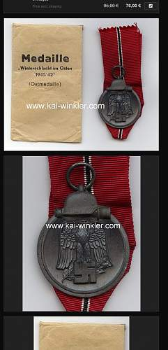 advice on buying EK2 and Eastern Front Medal