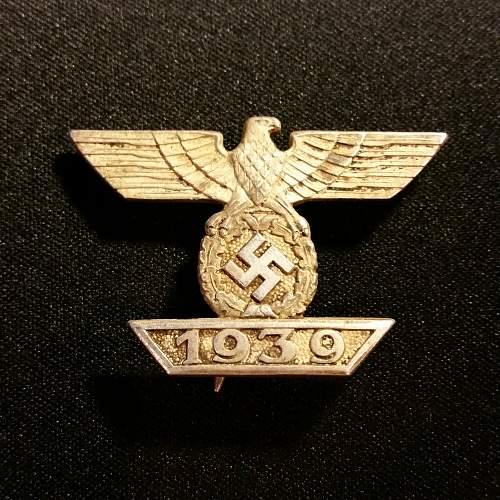1939 Spange zum Eisernen Kreuzes 1er Klasse 1914