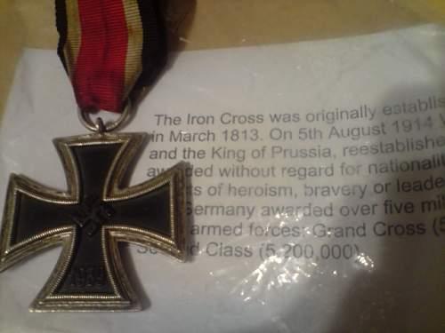 Iron Cross second class Vet story.