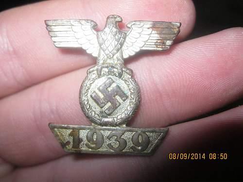 1939 Spange zum Eisernen Kreuzes 2er Klasse 1914 , original?