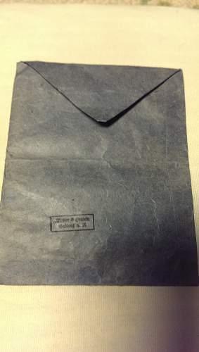 Eisernes Kreuz 2nd Klasse  with envelop